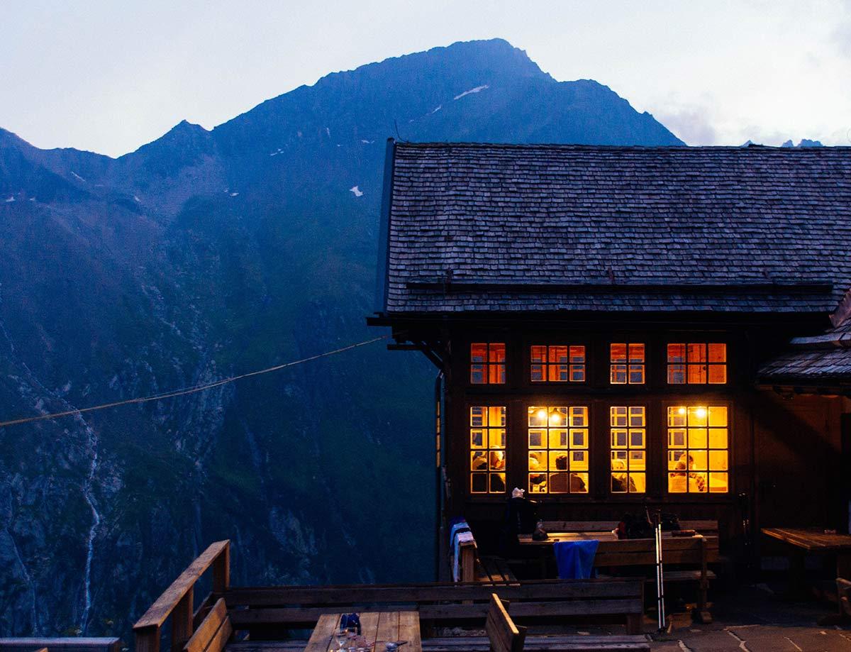 Huette in den Zillertaler Alpen