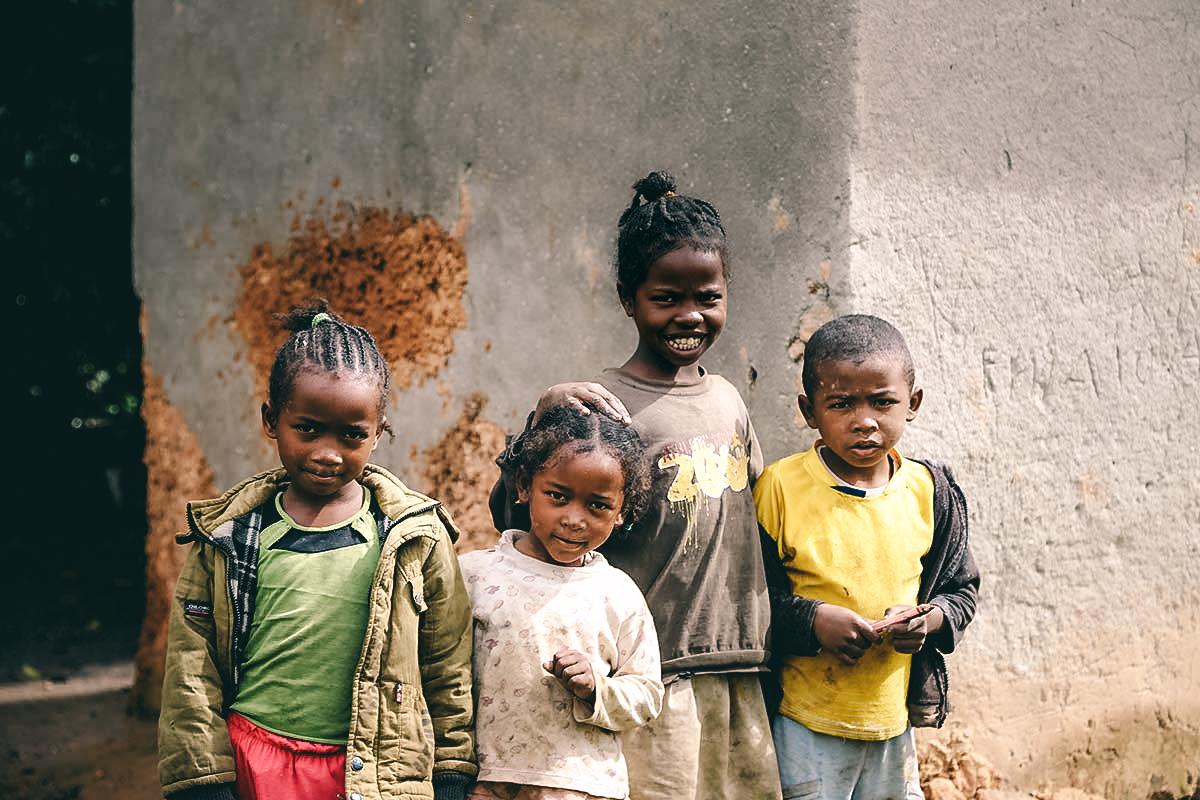 Kinder in der Hauptstadt Tana