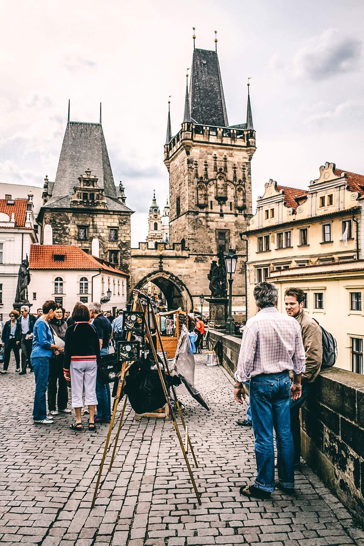 Kuenster Karlsbruecke Prag