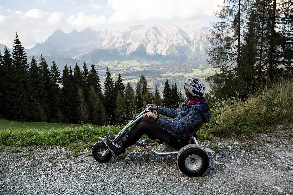 Aussicht beim Mountain Go Kart fahren