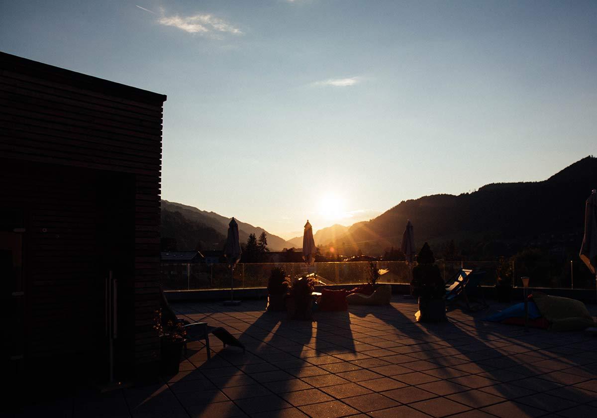 Sonnenuntergang in Schladming