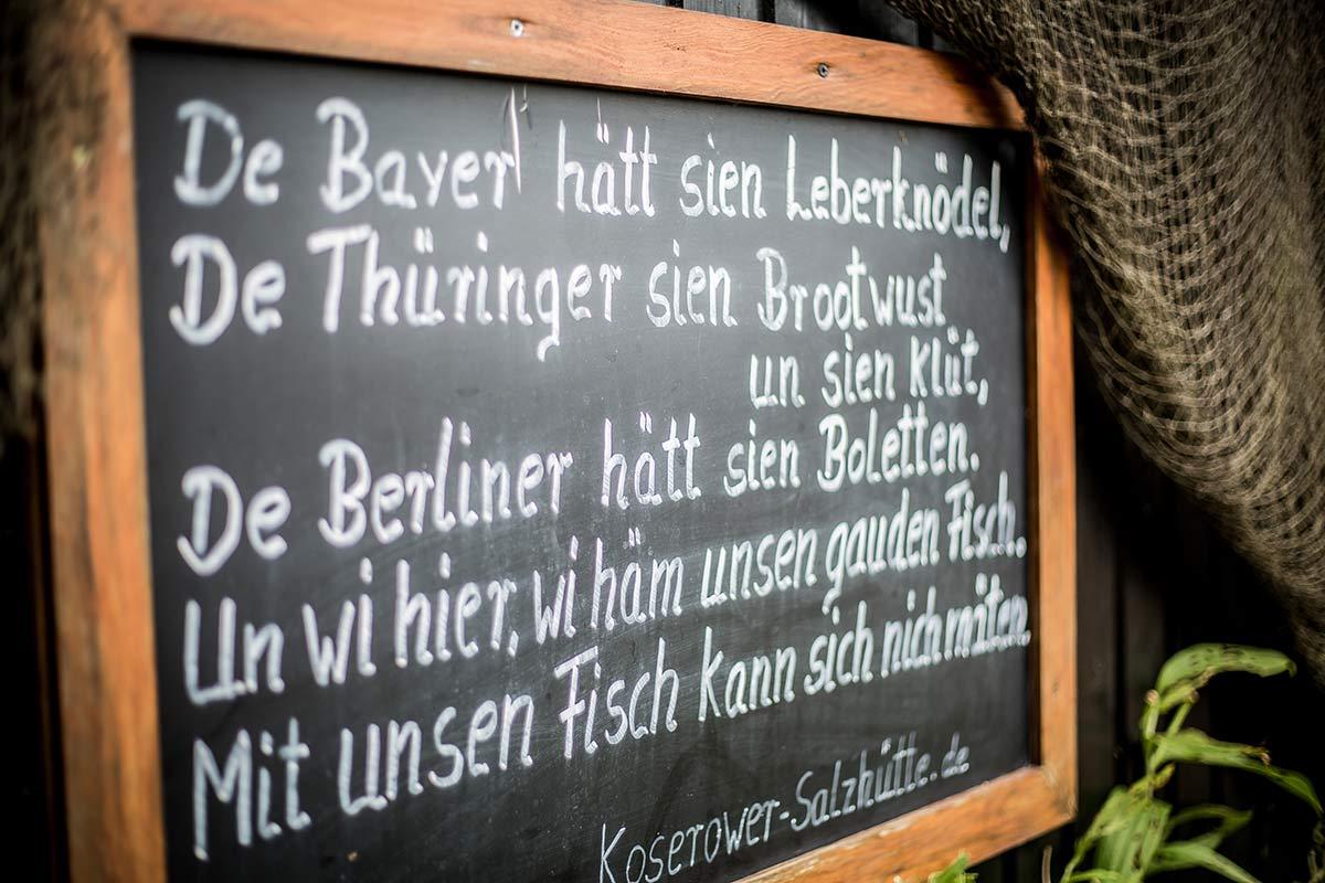 Spruchtafel Koserower Salzhuetten