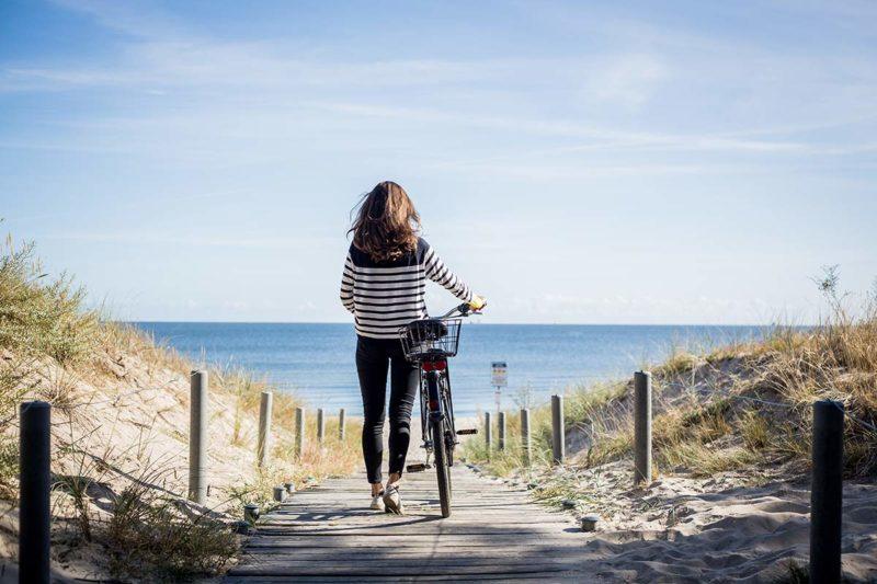 Strandstop bei der Fahrradtour nach Swindemuende