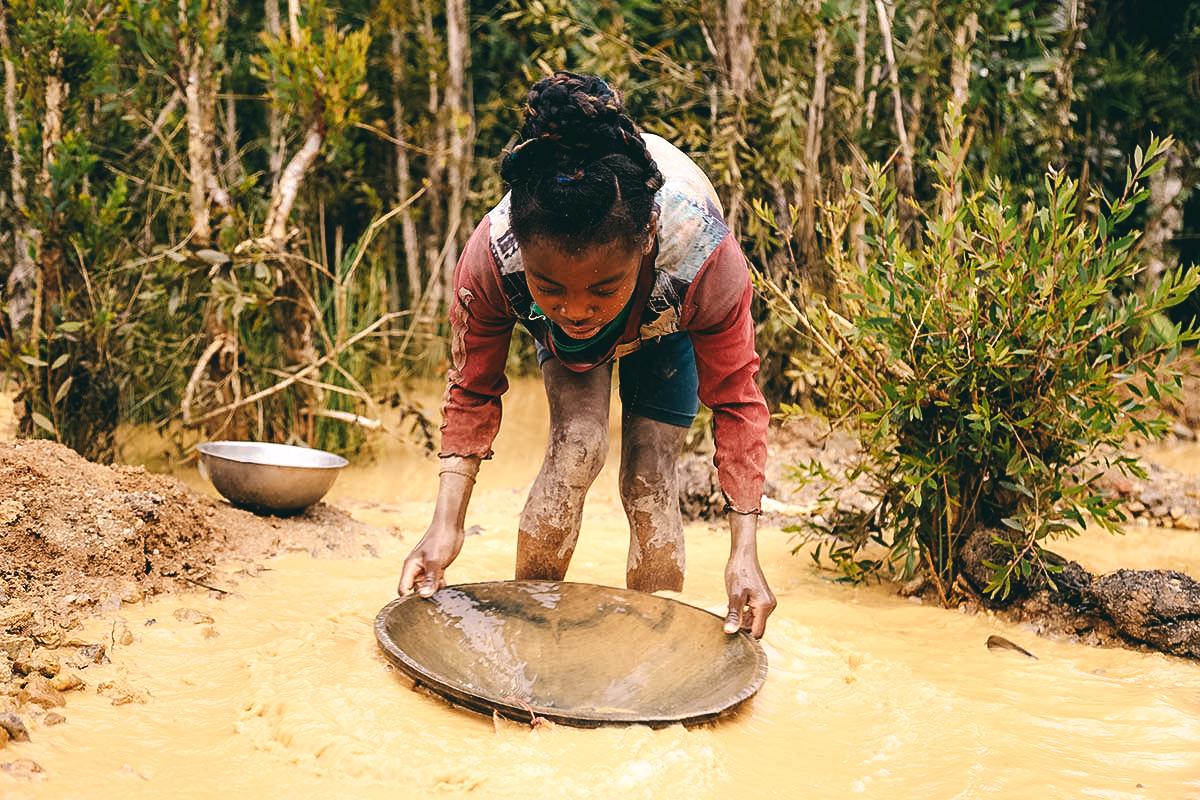 Vor den Goldminen Madagaskars