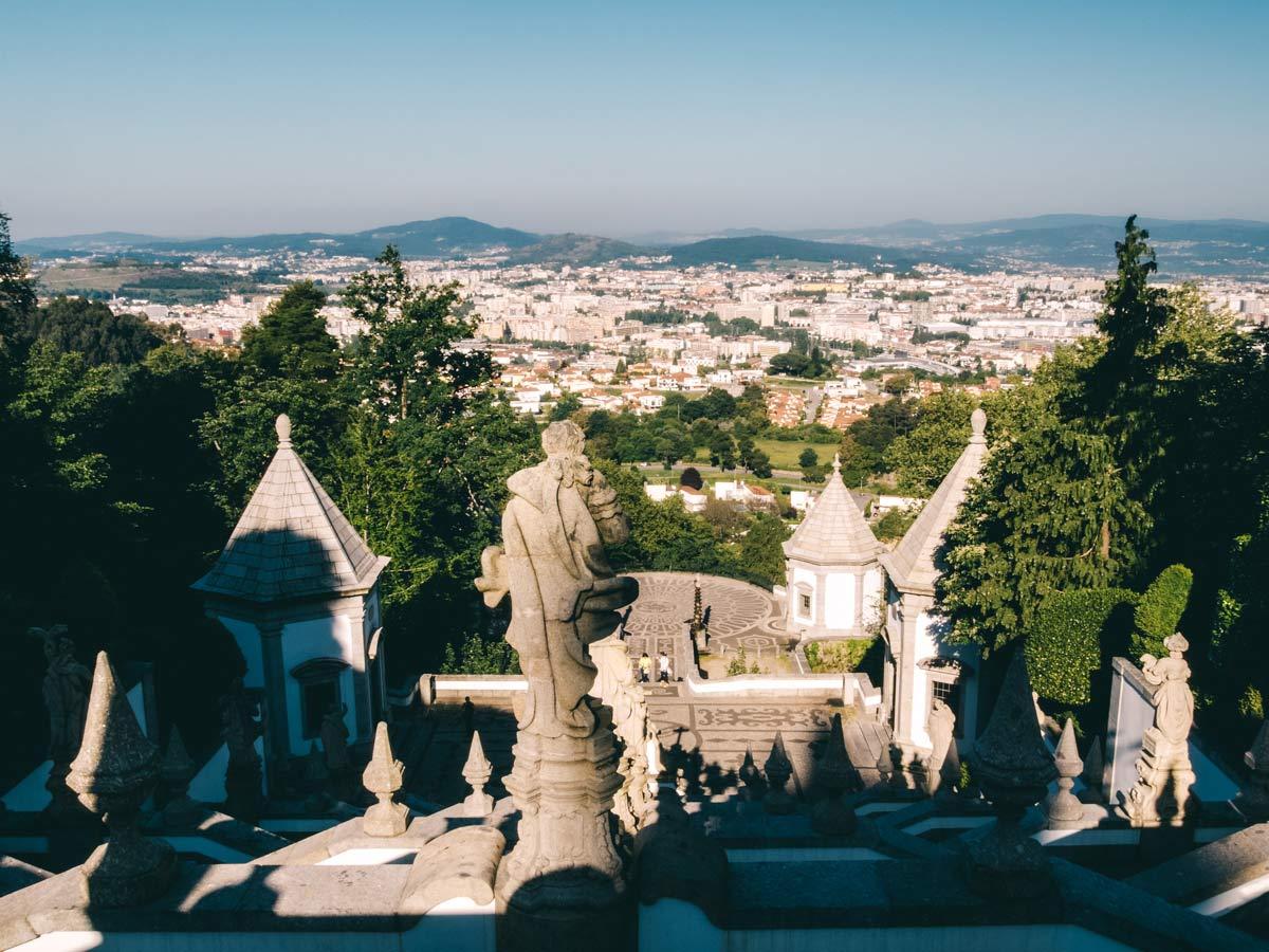 Aussicht von der Bom Jesus do Monte