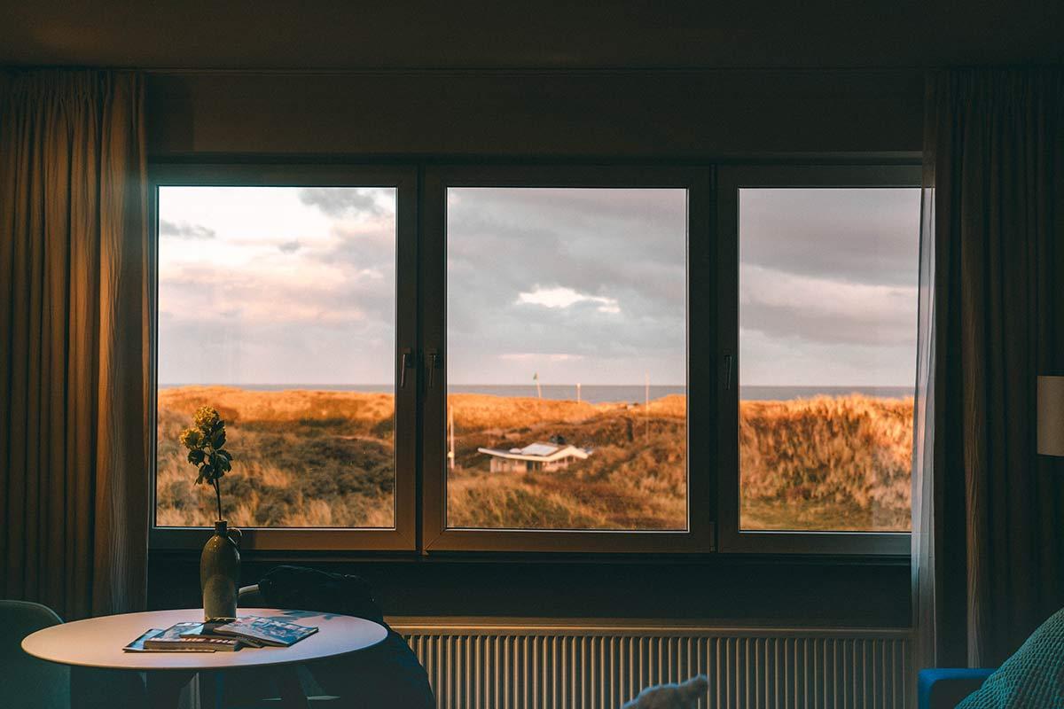 Aussicht Zimmer Grand Hotel Opduin