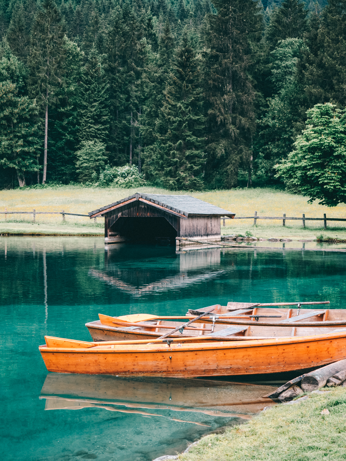 boote am jaegersee