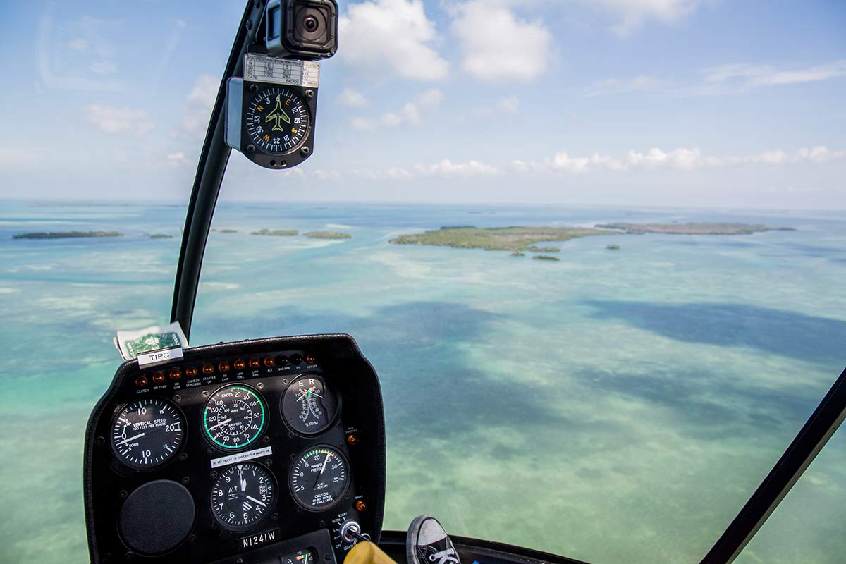 Helikopterflug in Key West