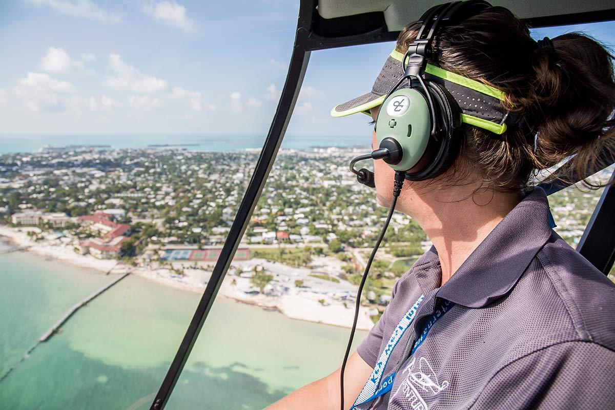 Helikopterflug Pilotin Abby