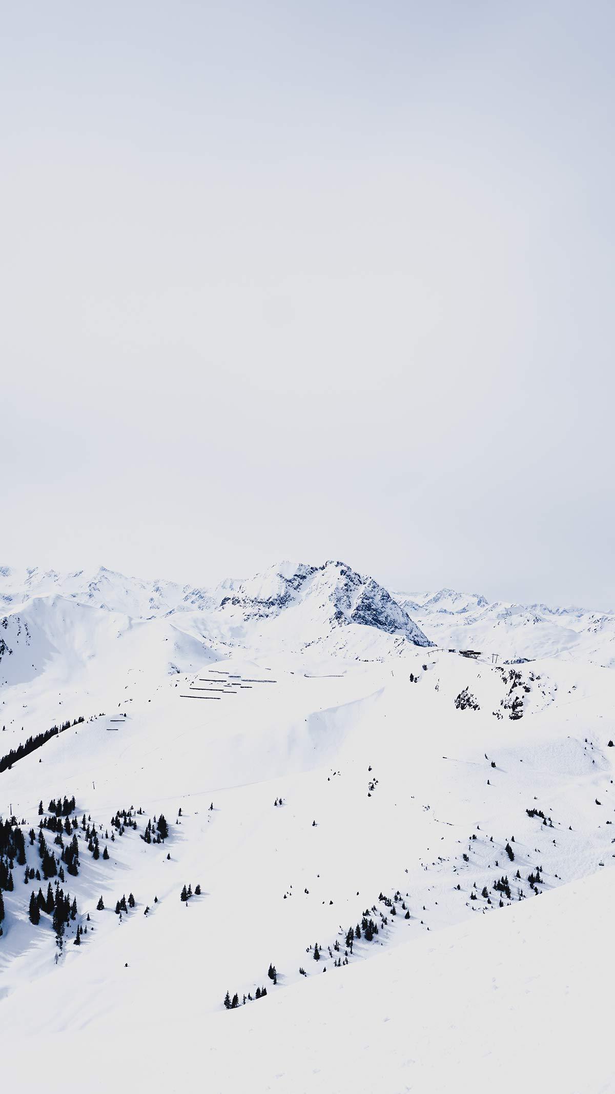 KitzSki Gebiet Ausblick Piste