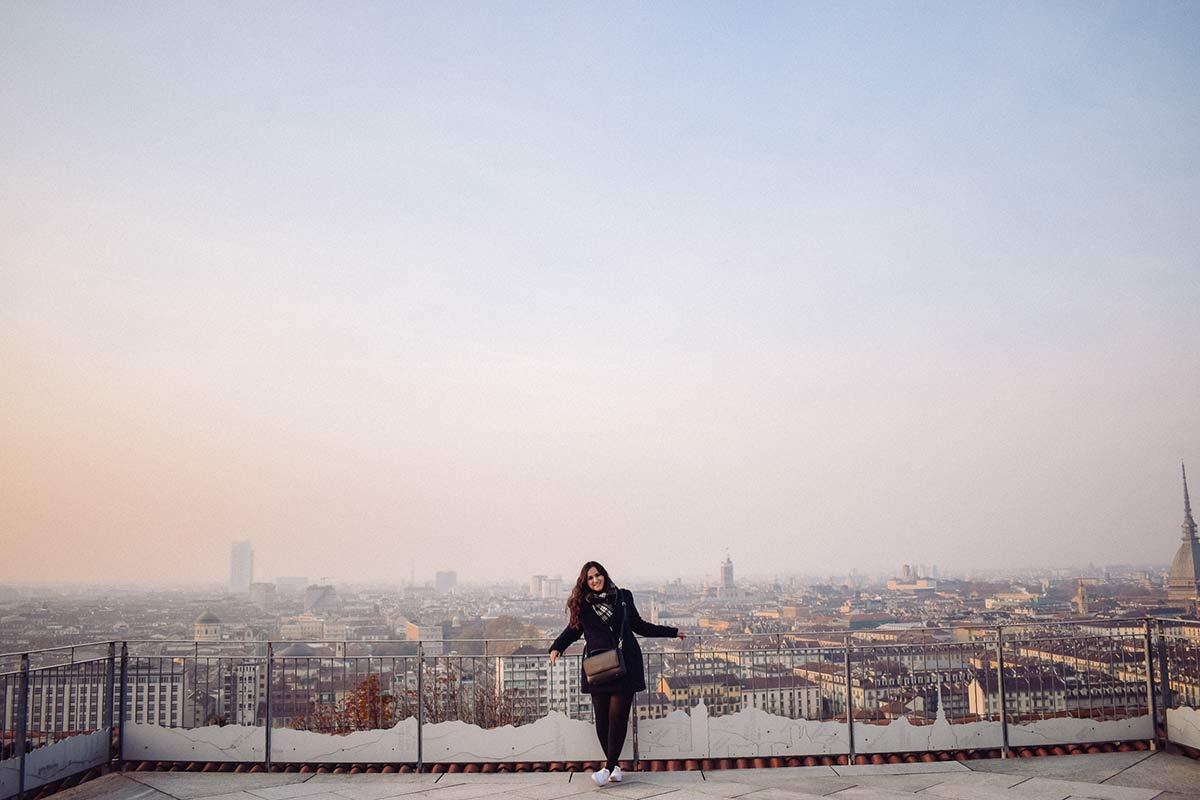 Aussicht Monte Dei Cappuccini in Turin