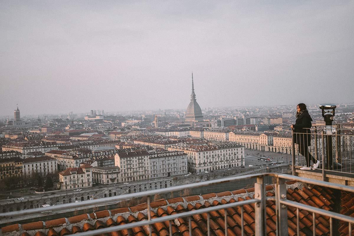 Blick ueber Turin