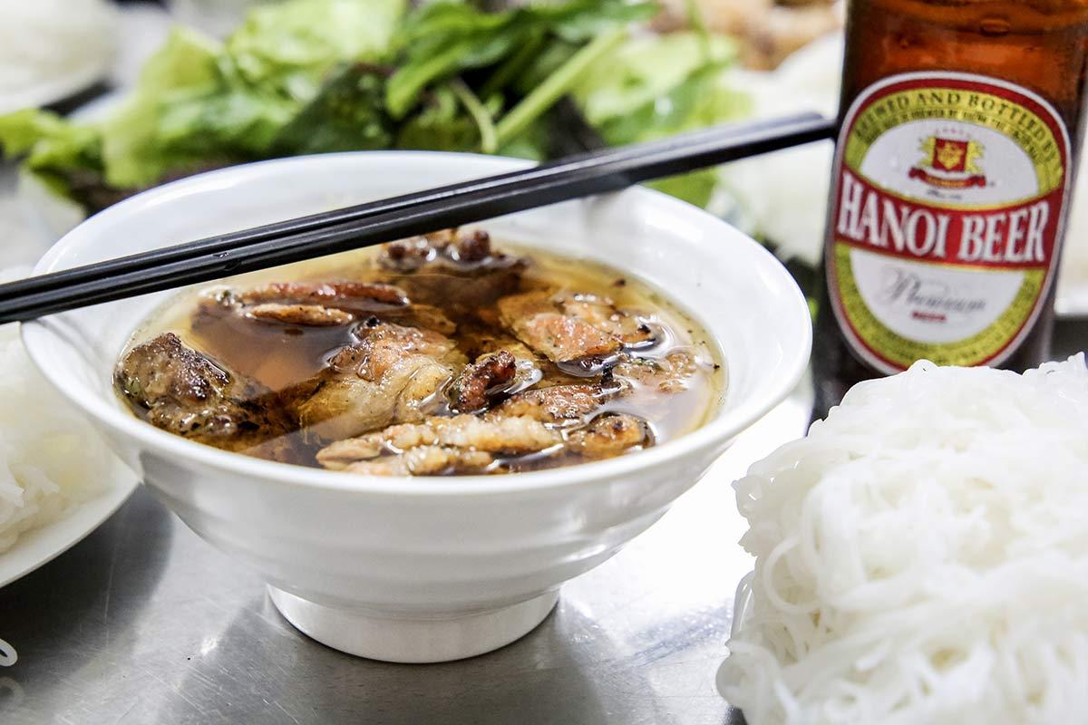Bun Cha im Bun Cha Huong Lien Restaurant Hanois