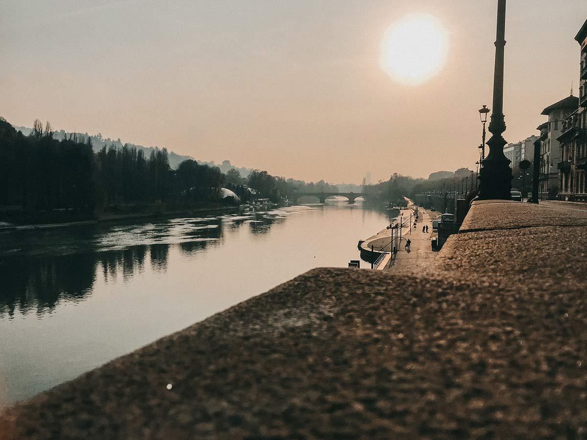 Po, der Fluss von Turin