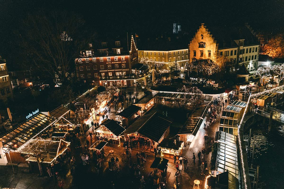 Lindauer Hafenweihnacht Blick vom Mangturm