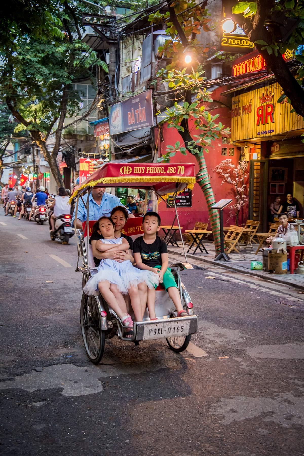 Mit dem Xico durch Hanoi