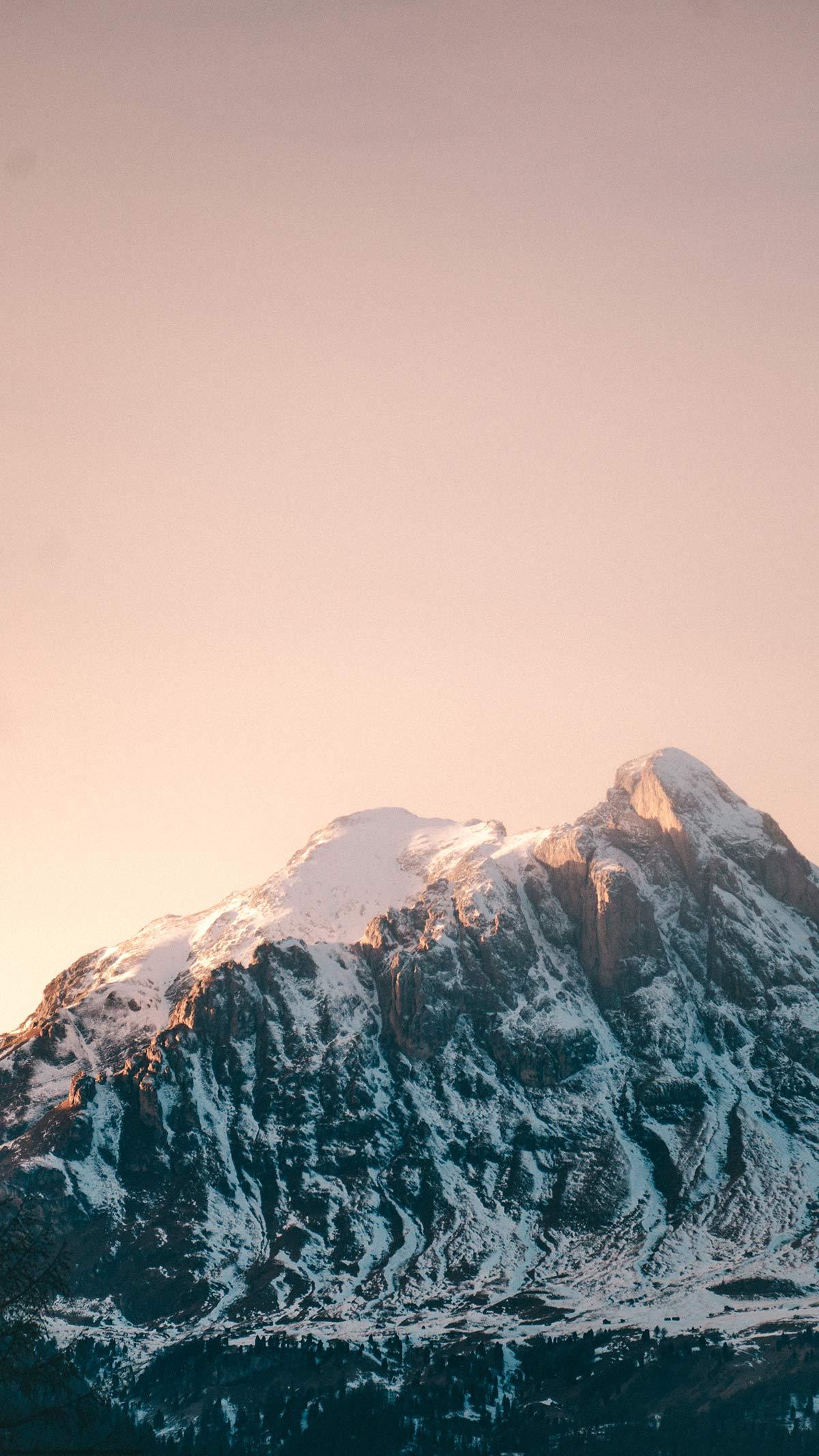 Alta Badia Berge im Sonnenuntergang