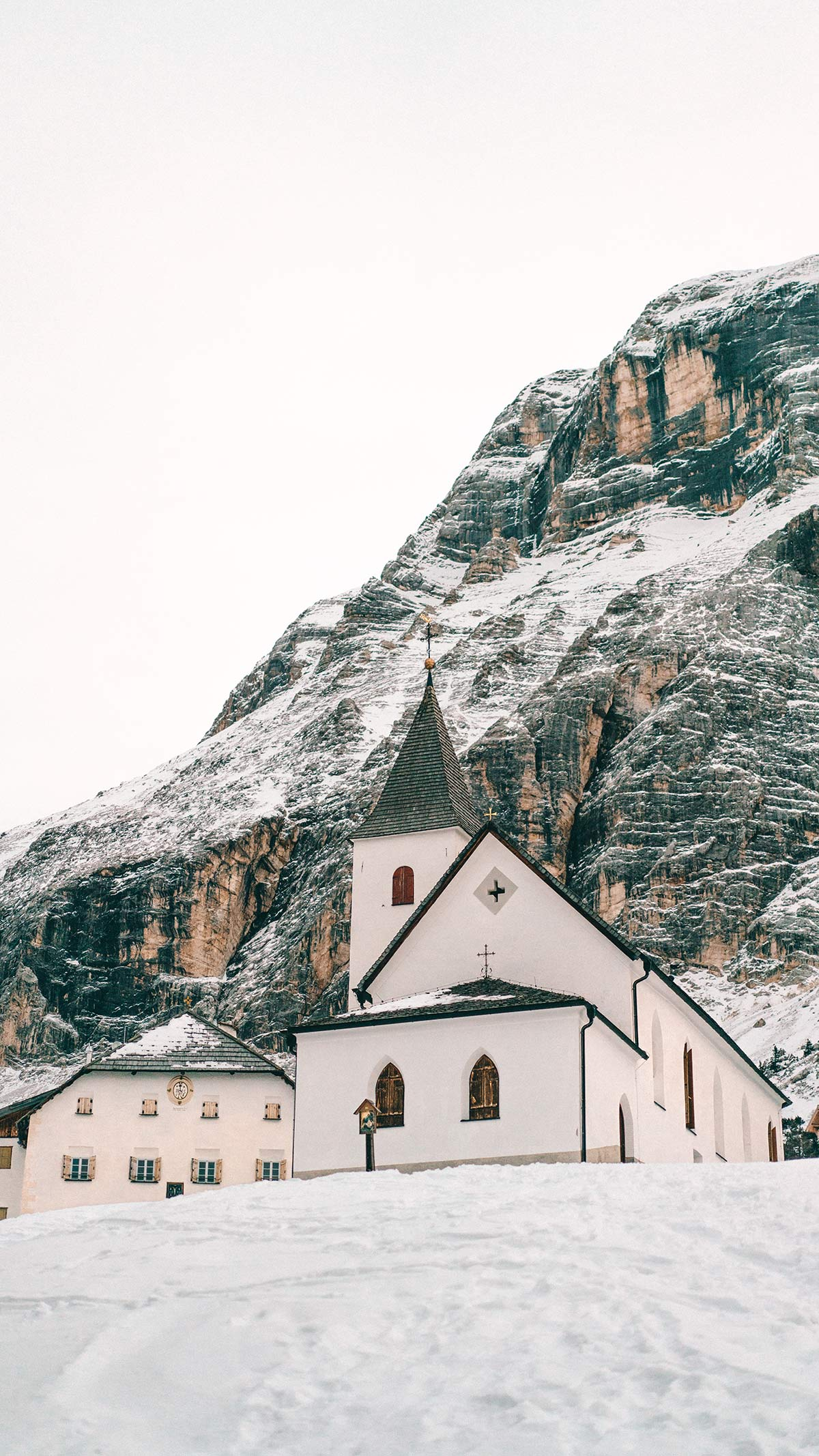 Alta Badia Kirche Heilig Kreuz