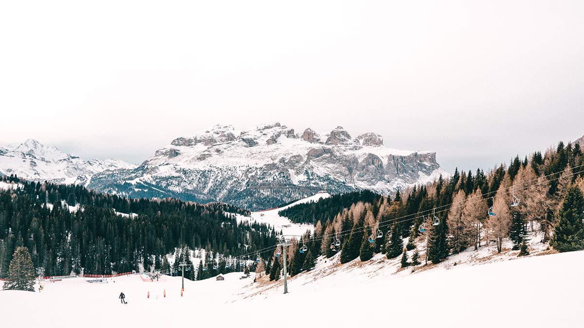 Alta Badia Skifahren Skigebiet Dolomiten