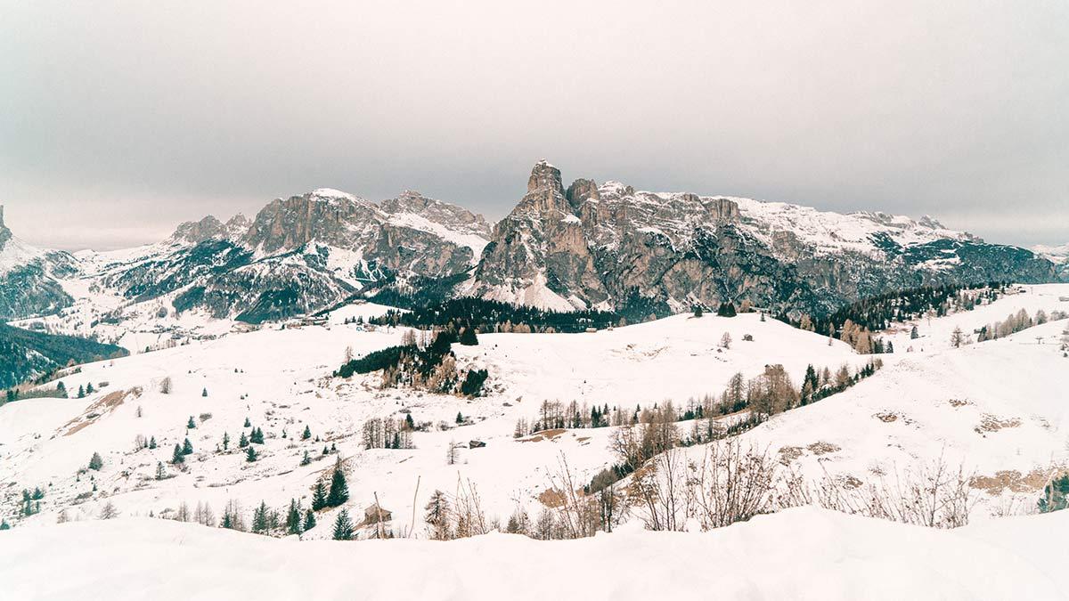 Alta Badia Skigebiet Ausblick Landschaft