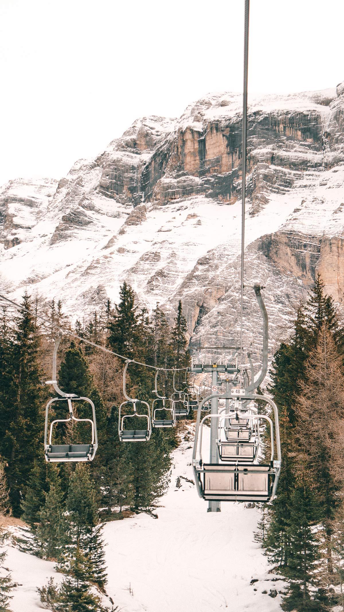 Alta Badia Skigebiet Sessellift
