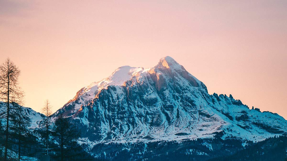 Alta Badia Sonnenuntergang
