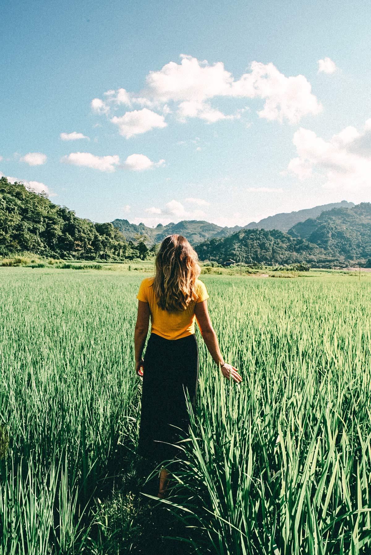 Atemberaubende Natur Mai Chau Tal Vietnam