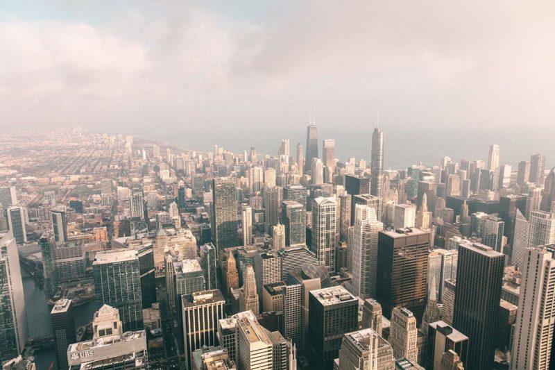 Ausblick vom Skydeck Chicago