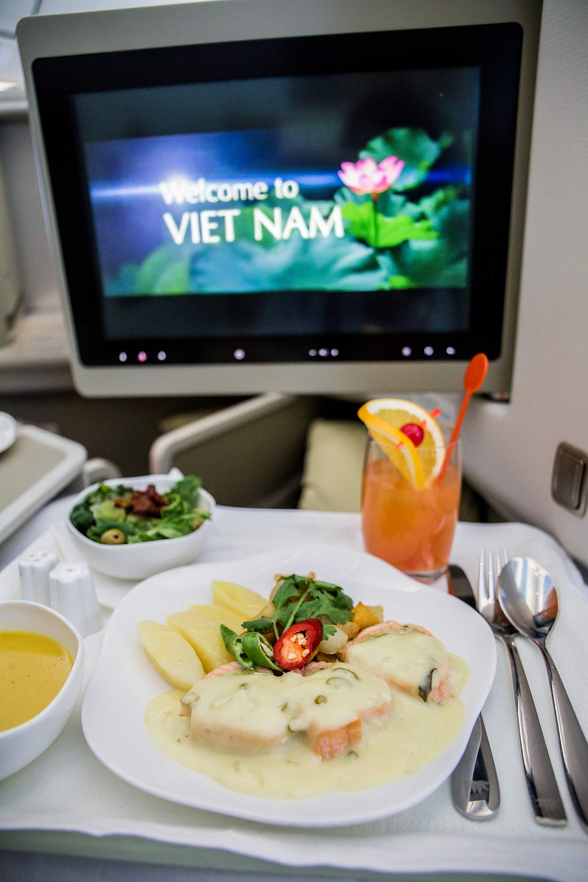 Business Class Sitz bei Vietnam Airlines