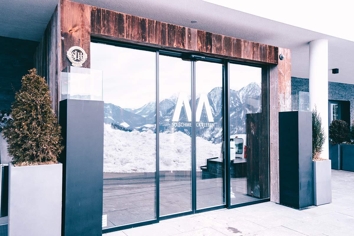 Das Hotel Marent Eingang