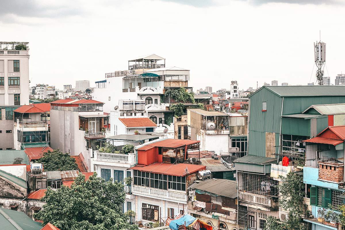 Haeuser in Hanois Altstadt