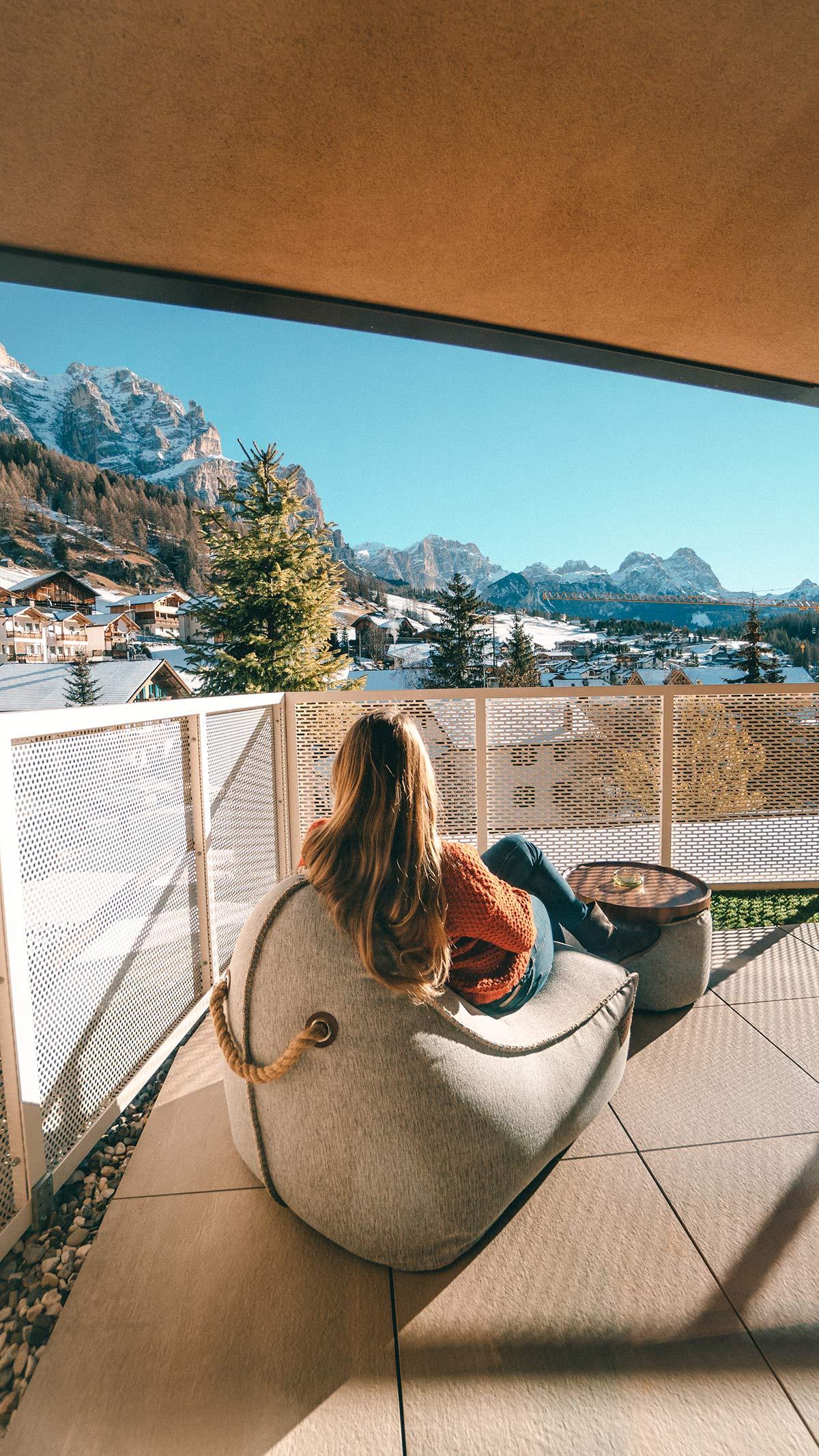 Hotel Tofana Balkon mit Aussicht