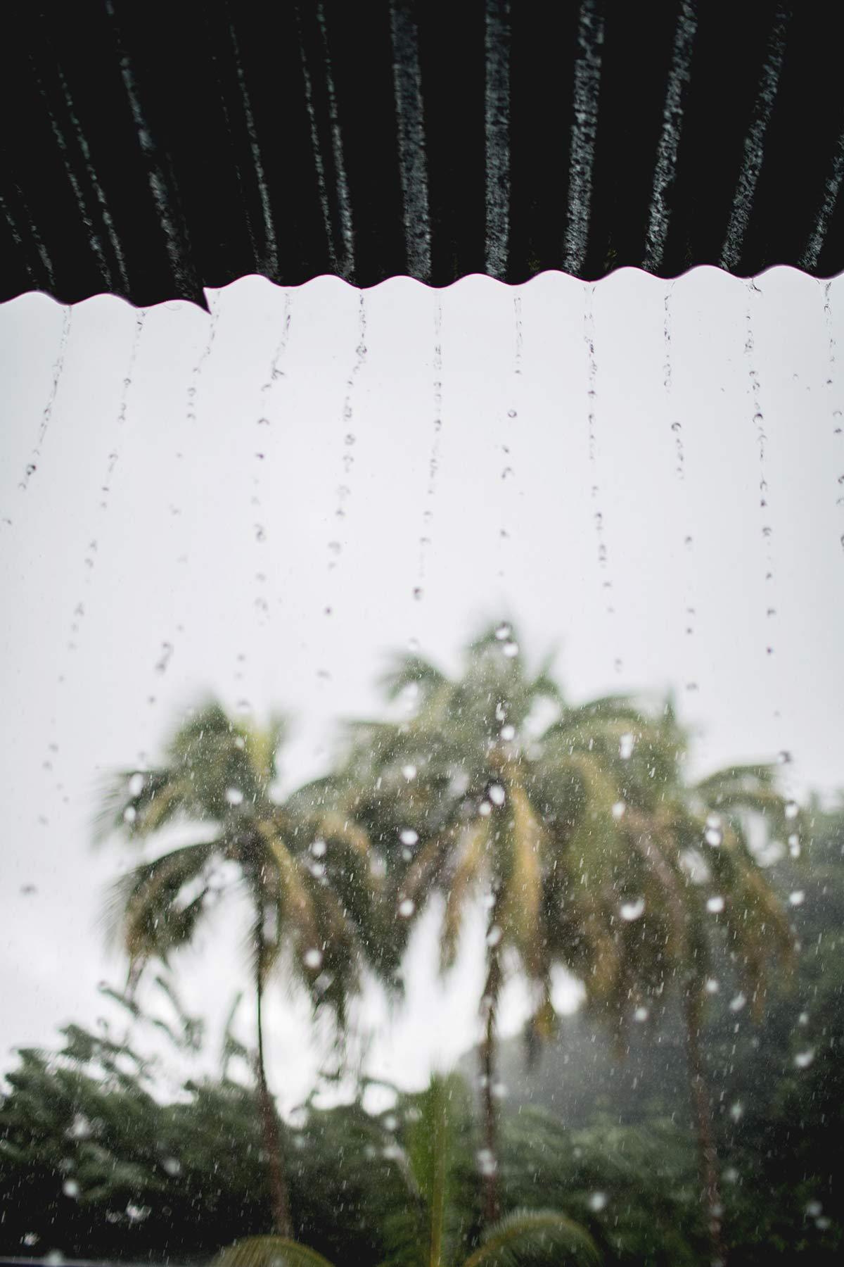 Regen auf Martinique