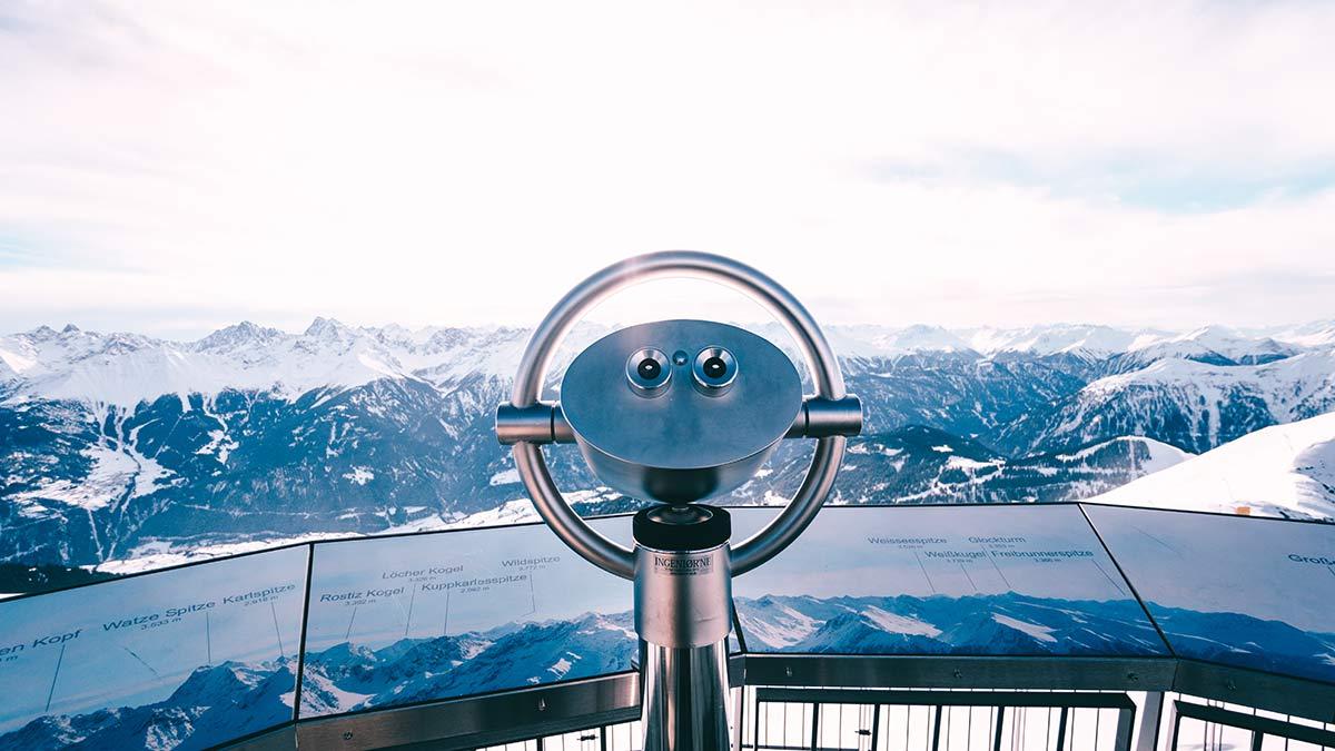 Serfaus Fiss Ladis Aussichtsplatform Z1 Fernglas