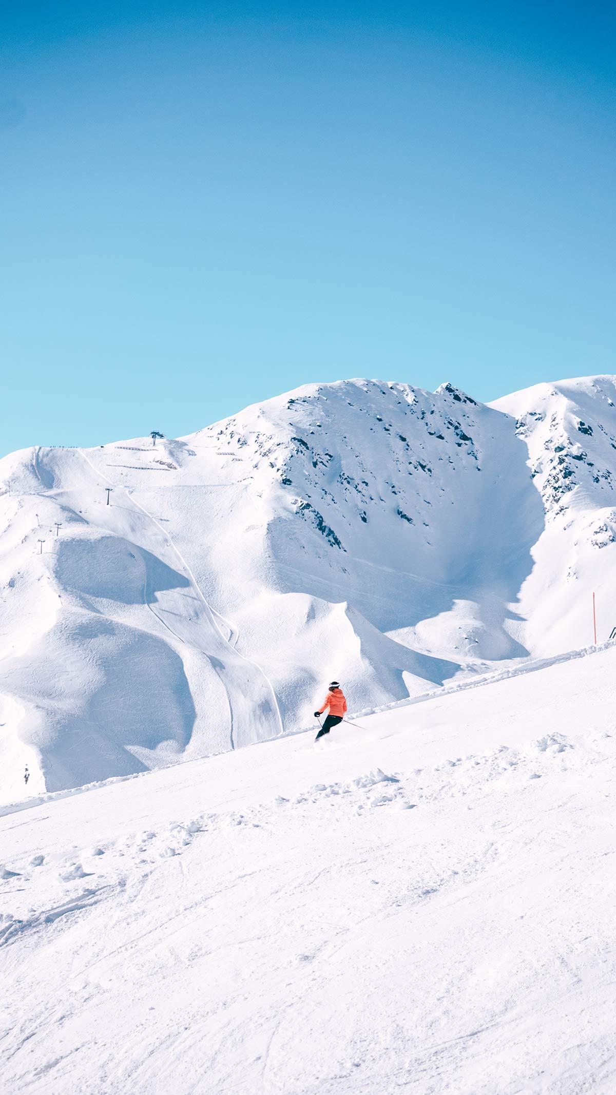 Serfaus Fiss Ladis Skifahrer Impression