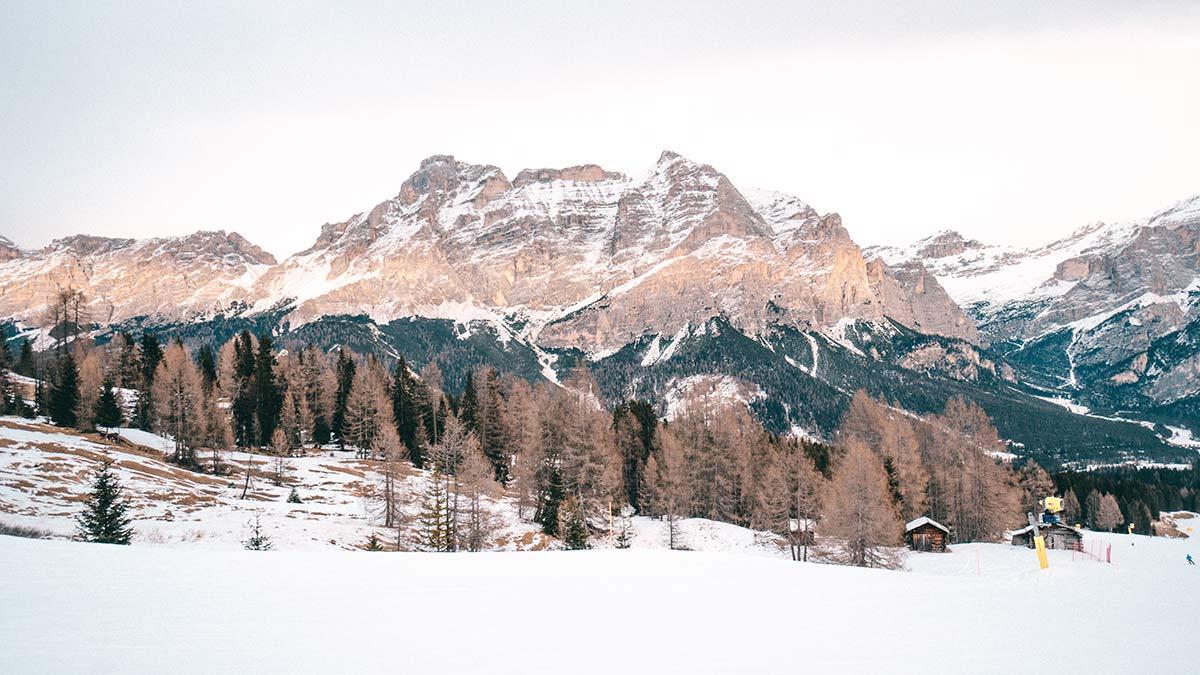 Skigebiet Alta Badia Dolomiten Aussicht