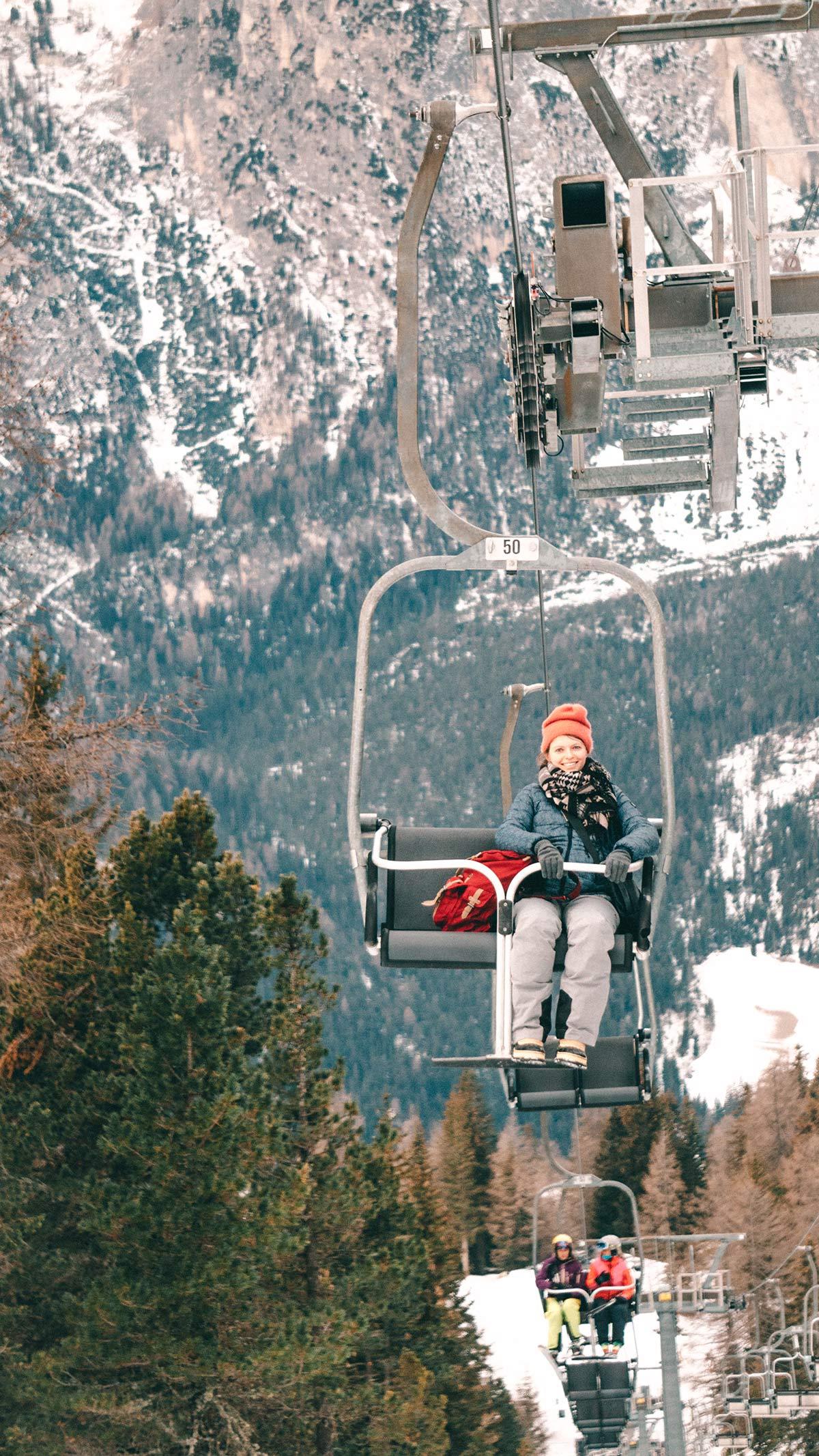 Skigebiet Alta Badia Sessellift Christine