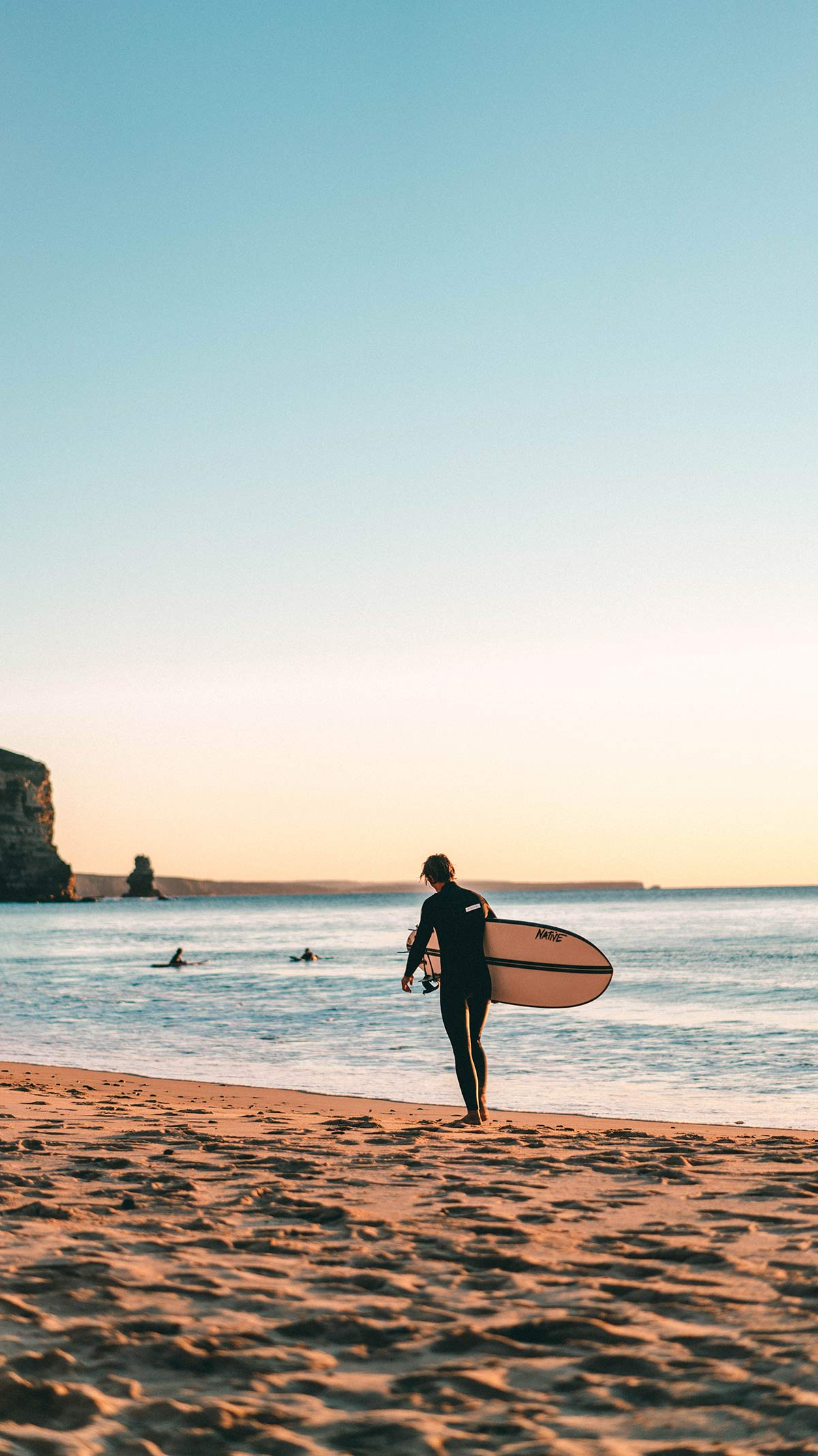 Surfer Arrifana Beach Portugal