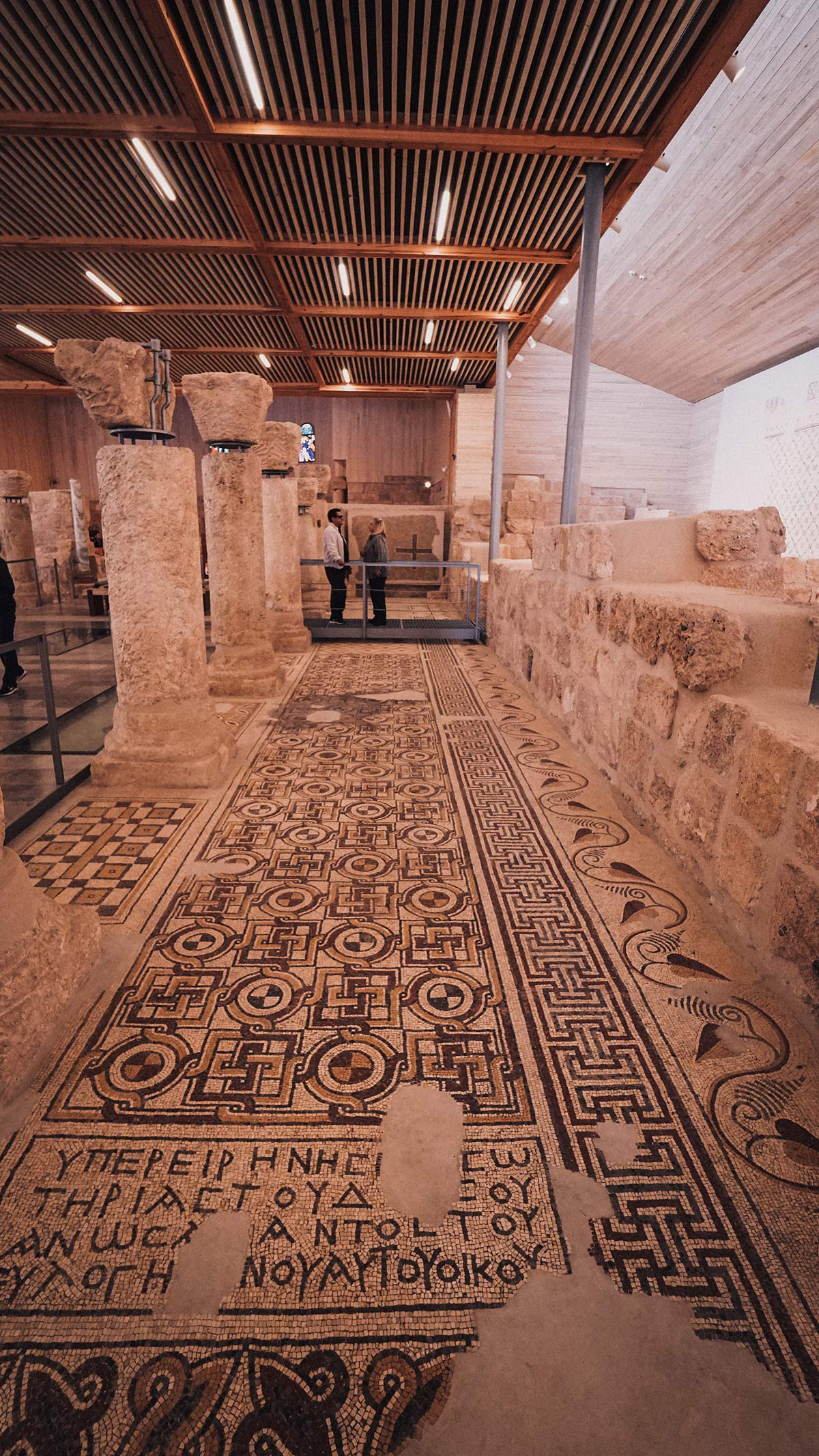 Berg Nebo Mosaikboden in Kirche
