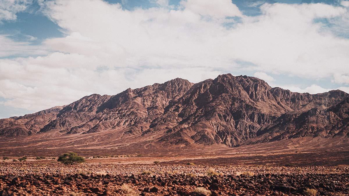 Fahrt nach Petra Berge Landschaft