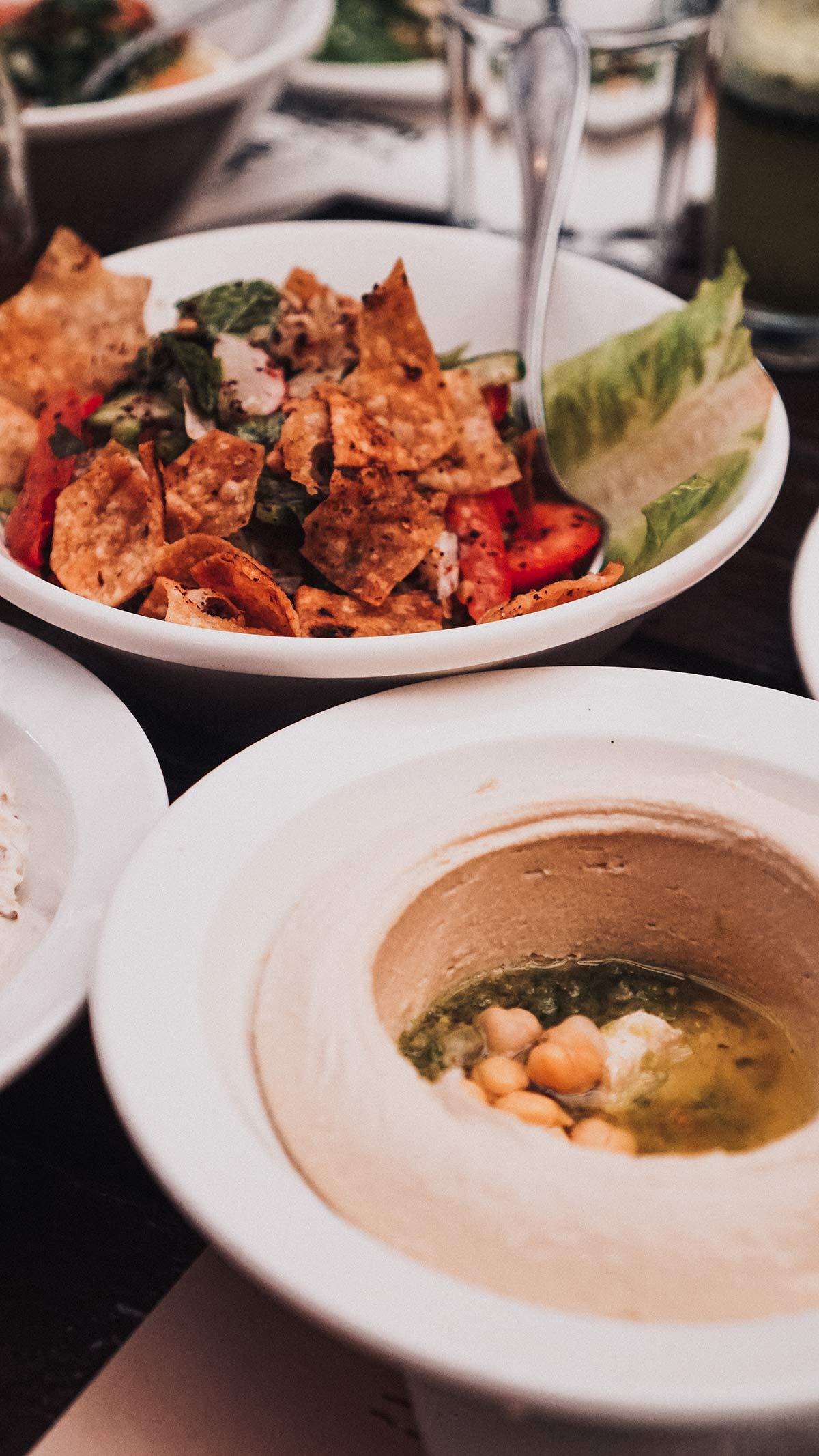 Madaba Mittagessen vegetarische Vorspeisen
