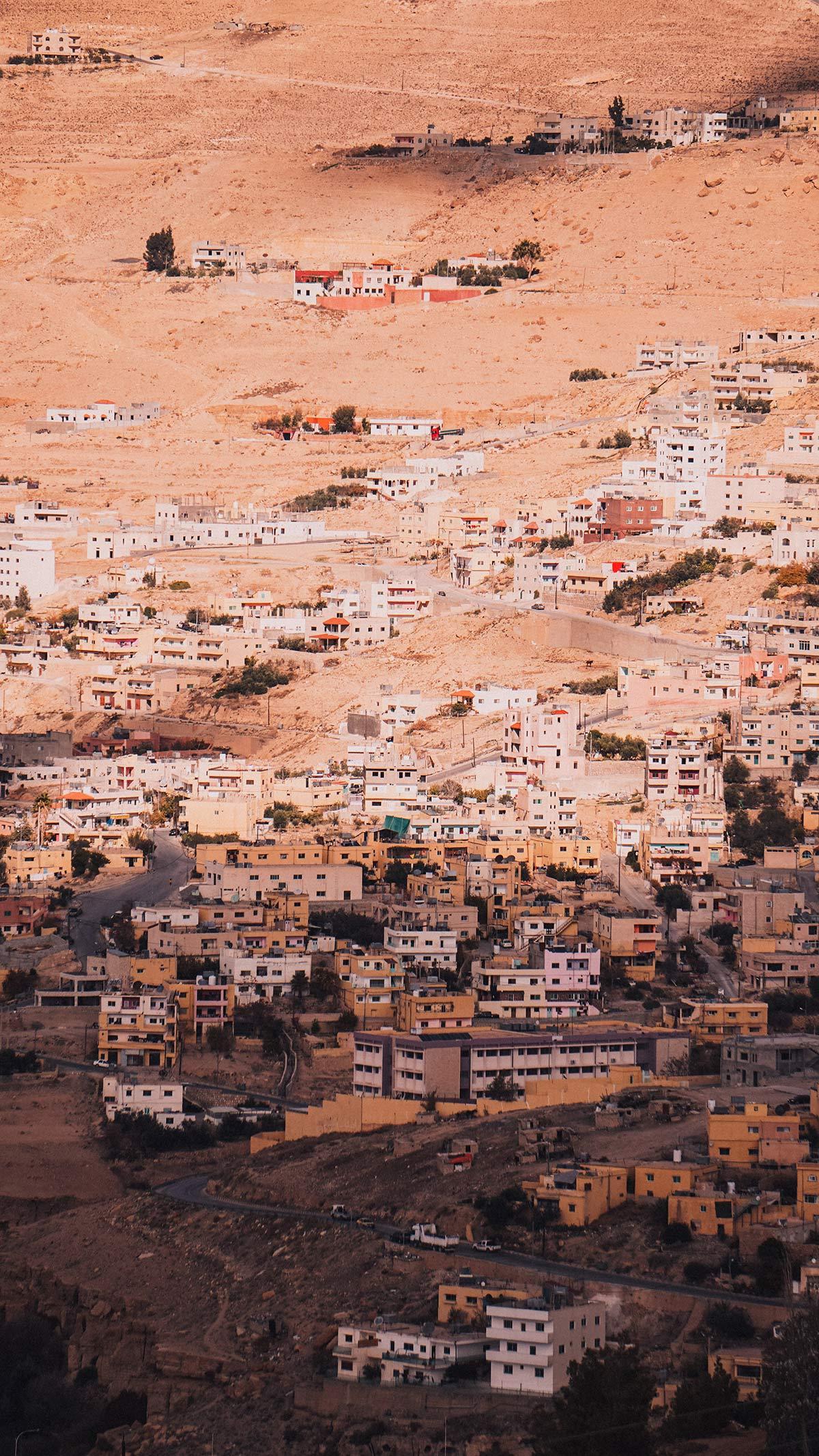 Petra Blick auf Wadi Musa