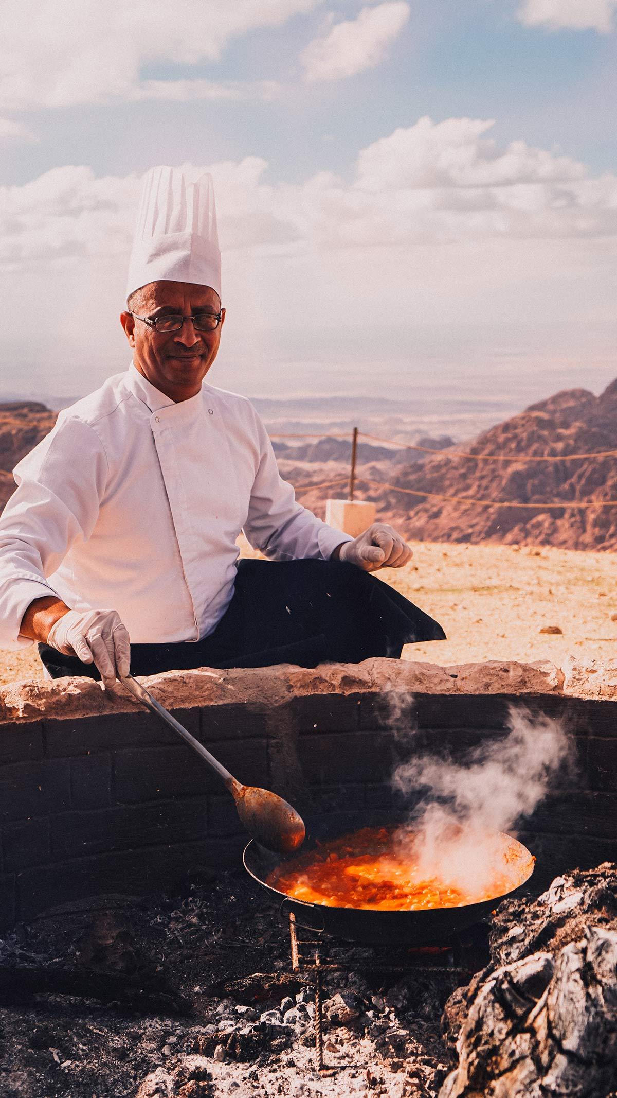 Petra Moevenpick Nabatean Castle Mittag Zubereitung