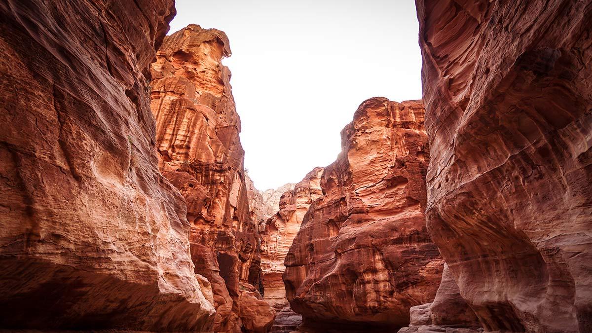 Petra Schlucht Canyon Weg Schatzhaus
