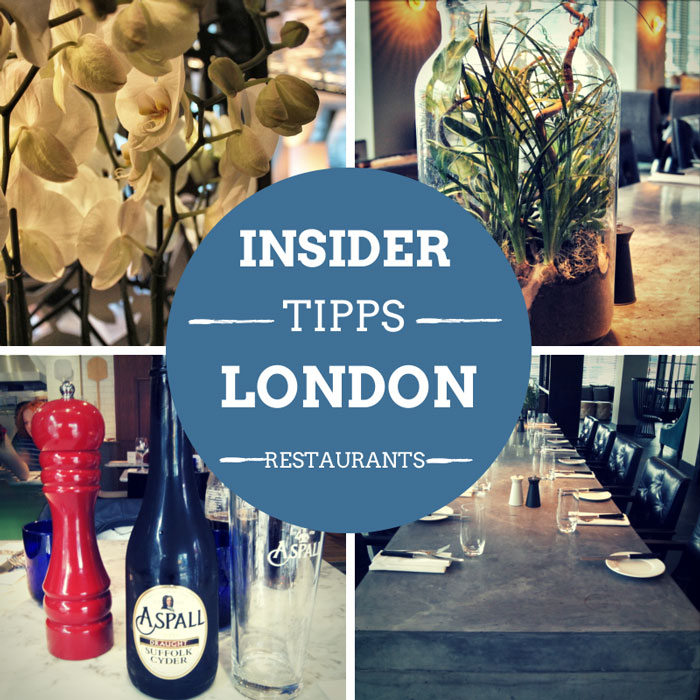 restaurants in london