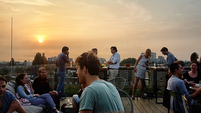 rooftopbar in amsterdam nest