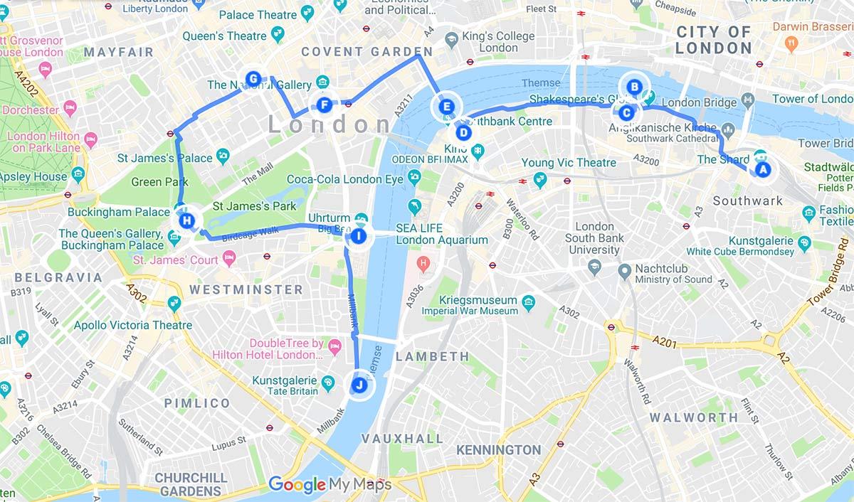 spaziergang london sehenswuerdigkeiten