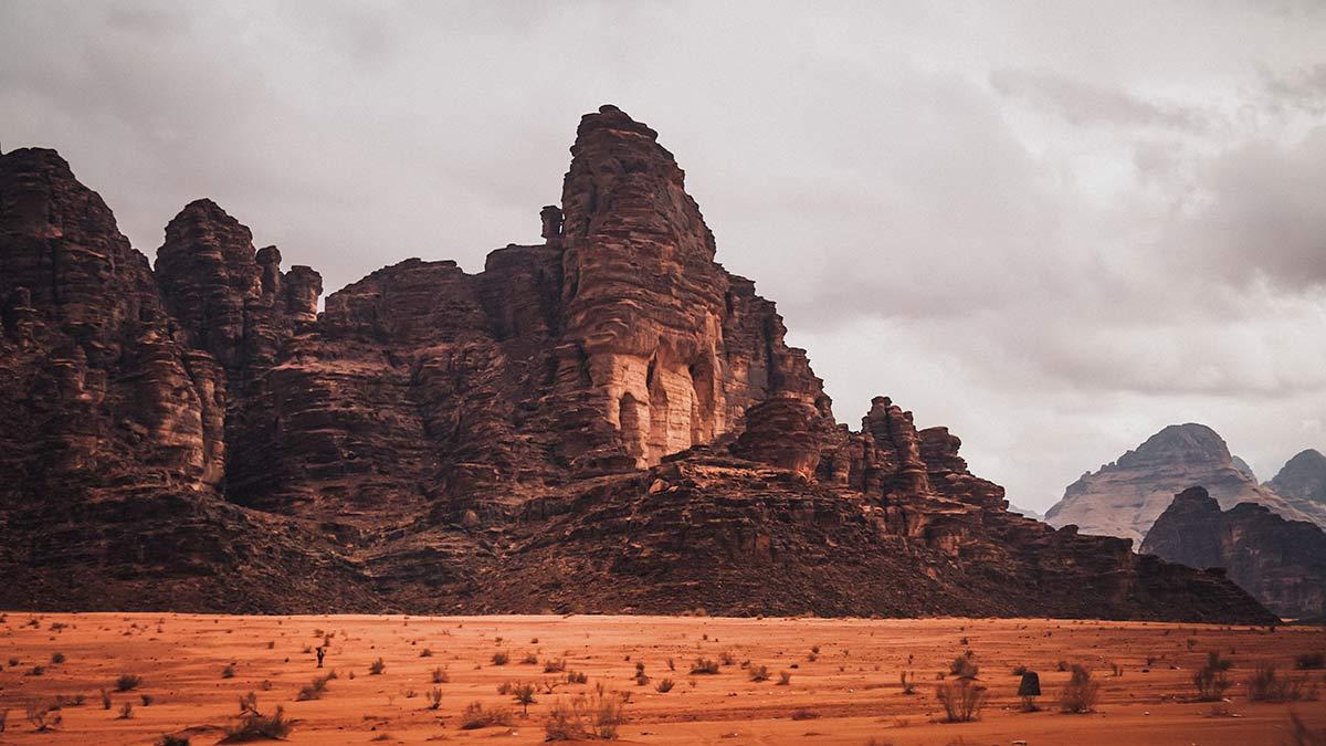 Wadi Rum Felsen Landschaft