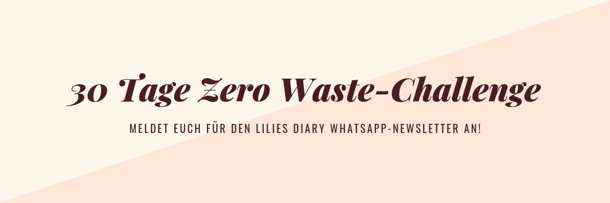 30 Tage Zero Waste Challenge