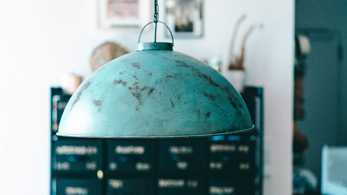 geniale einrichtungsideen industrial lampe